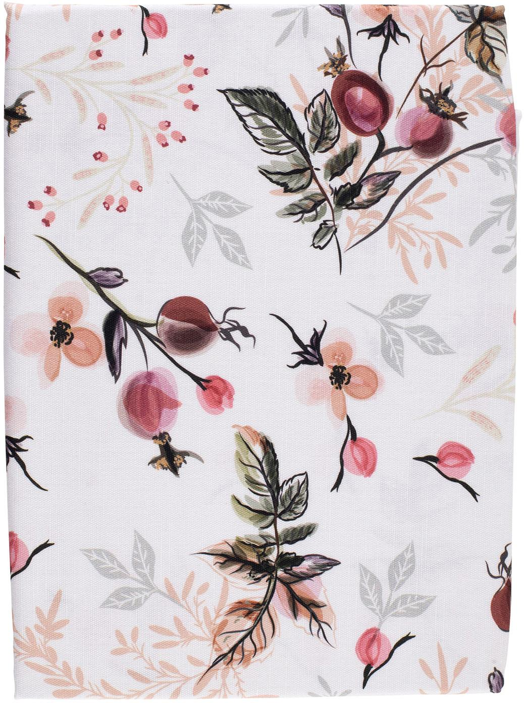 Mantel Beas, 100%algodón, Rosa, blanco, An 160 x L 160 cm