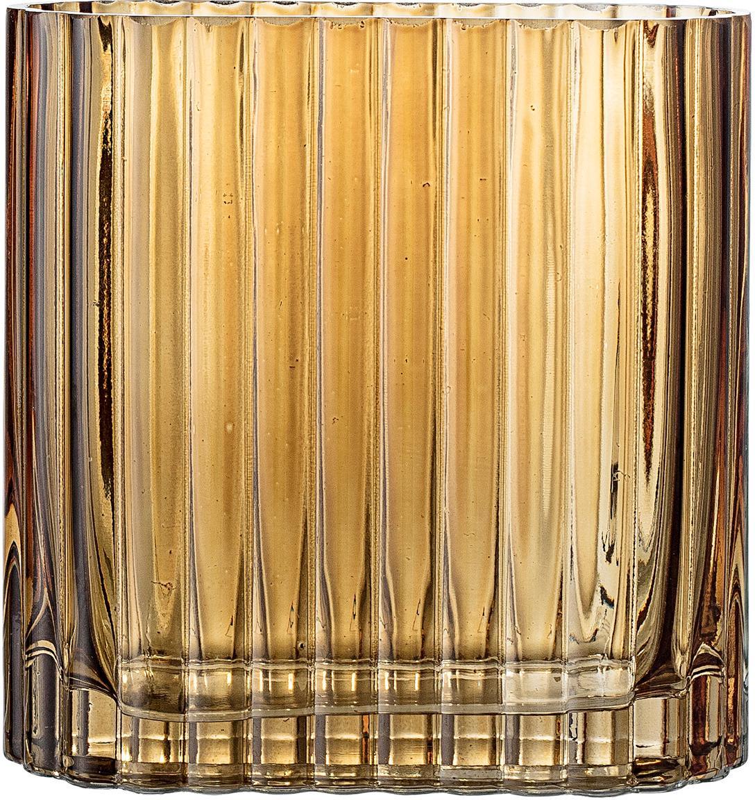 Kleine Glas-Vase Don, Glas, Braun, transparent, 14 x 14 cm