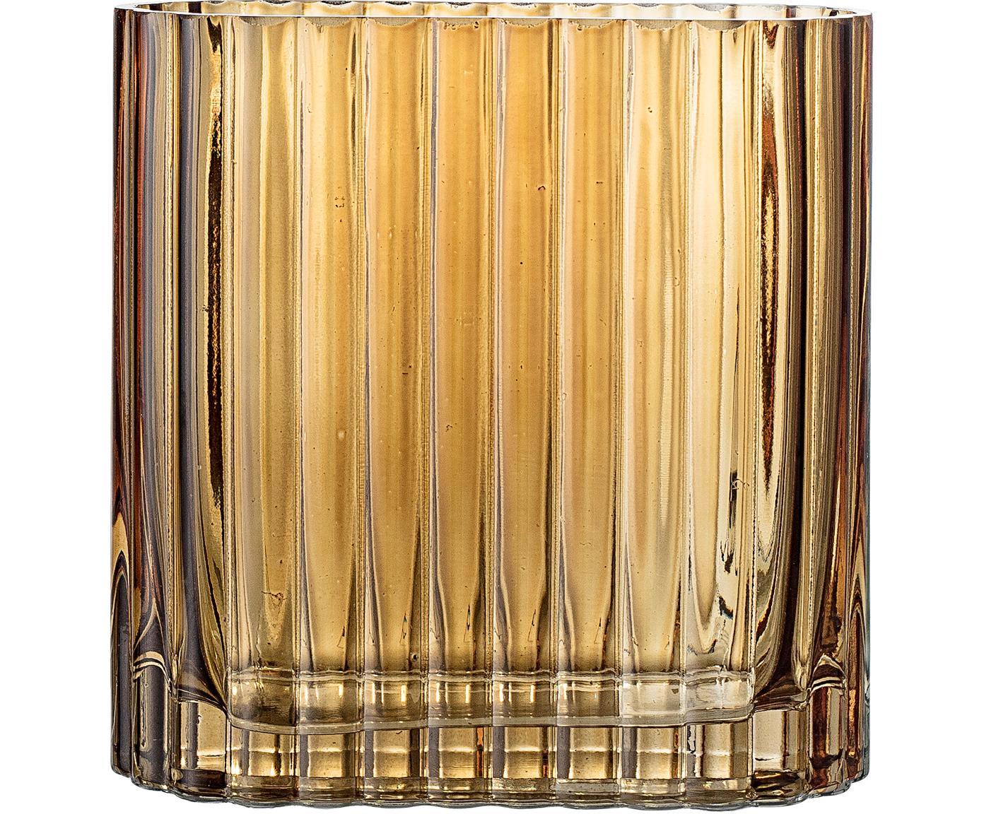 Mały wazon ze szkła Don, Szkło, Brązowy, transparentny, S 14 x W 14 cm