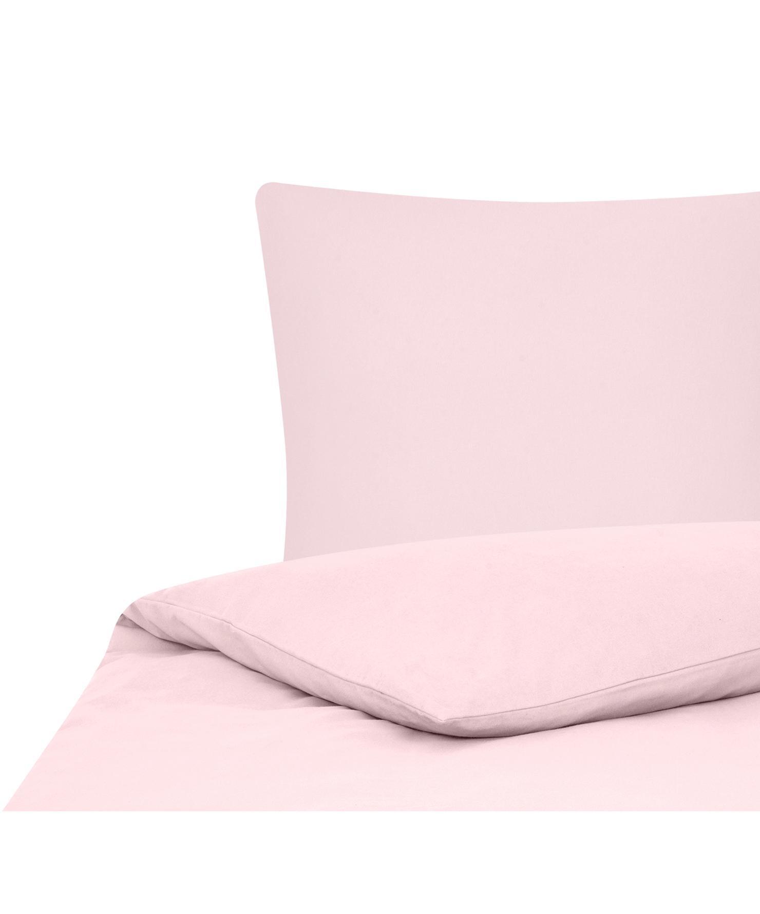 Flanell-Bettwäsche Biba in Rosa, Webart: Flanell Flanell ist ein s, Rosa, 135 x 200 cm + 1 Kissen 80 x 80 cm