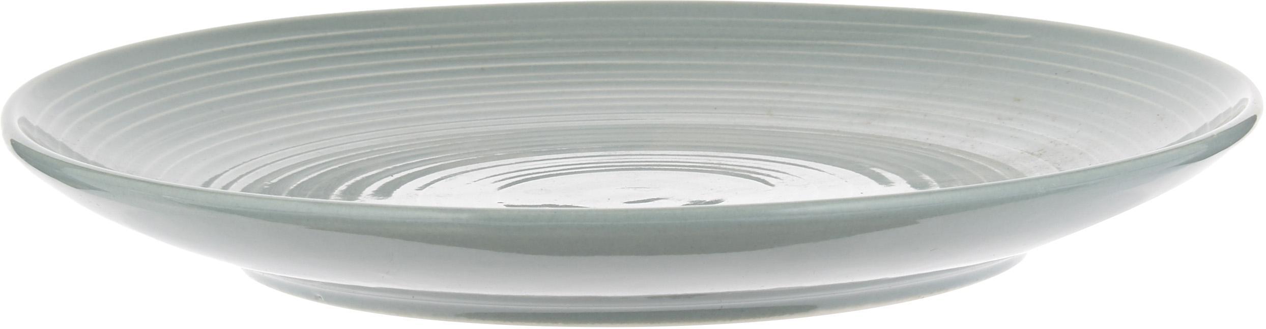 Geschirr-Set Darby mit Strukturoberfläche, 4 Personen (12-tlg.), New Bone China, Grün, Gebrochenes Weiß, Sondergrößen