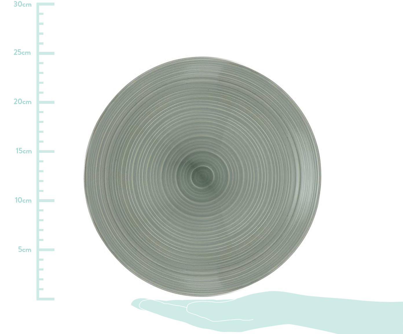 Komplet naczyń Darby, 12 elem., New Bone China, Zielony, złamana biel, Różne rozmiary