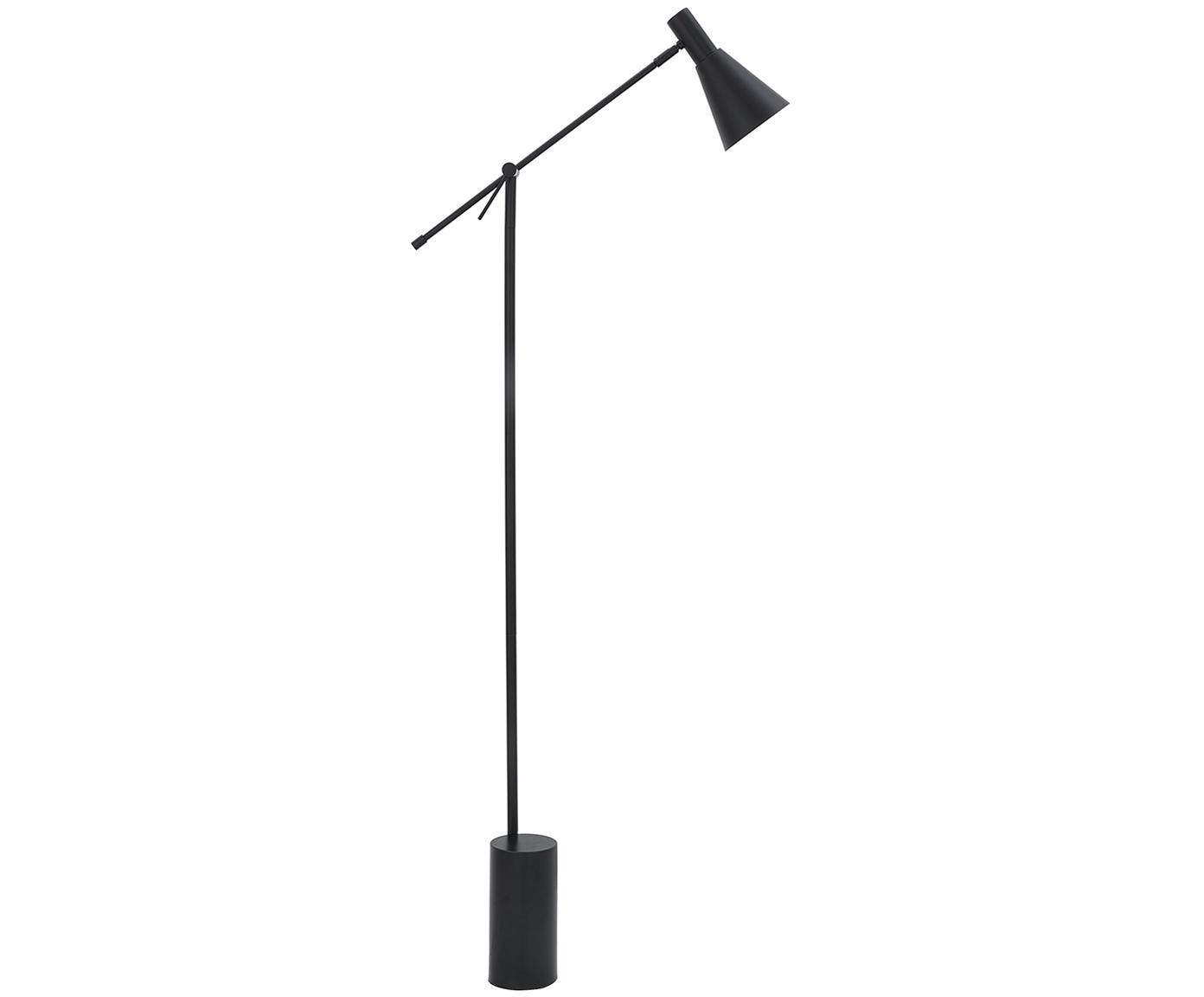 Lámpara de pie Sia, Pantalla: metal con pintura en polv, Cable: cubierto en tela, Negro, Ø 14 x Al 162 cm