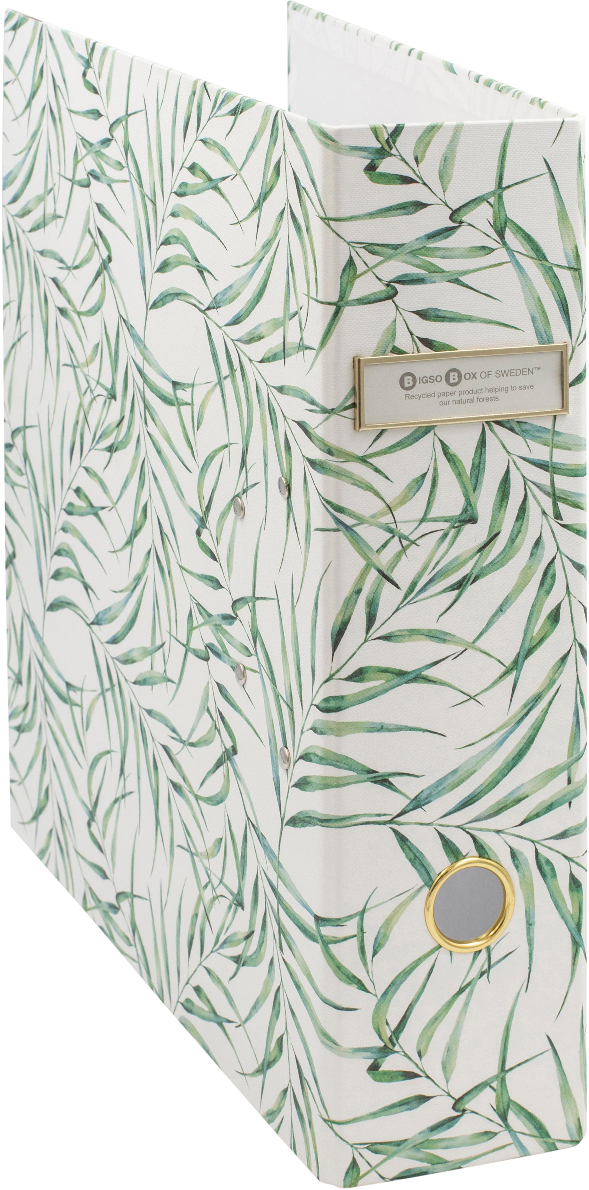Segregator na dokumenty Leaf, Biały, zielony, S 29 x W 32 cm