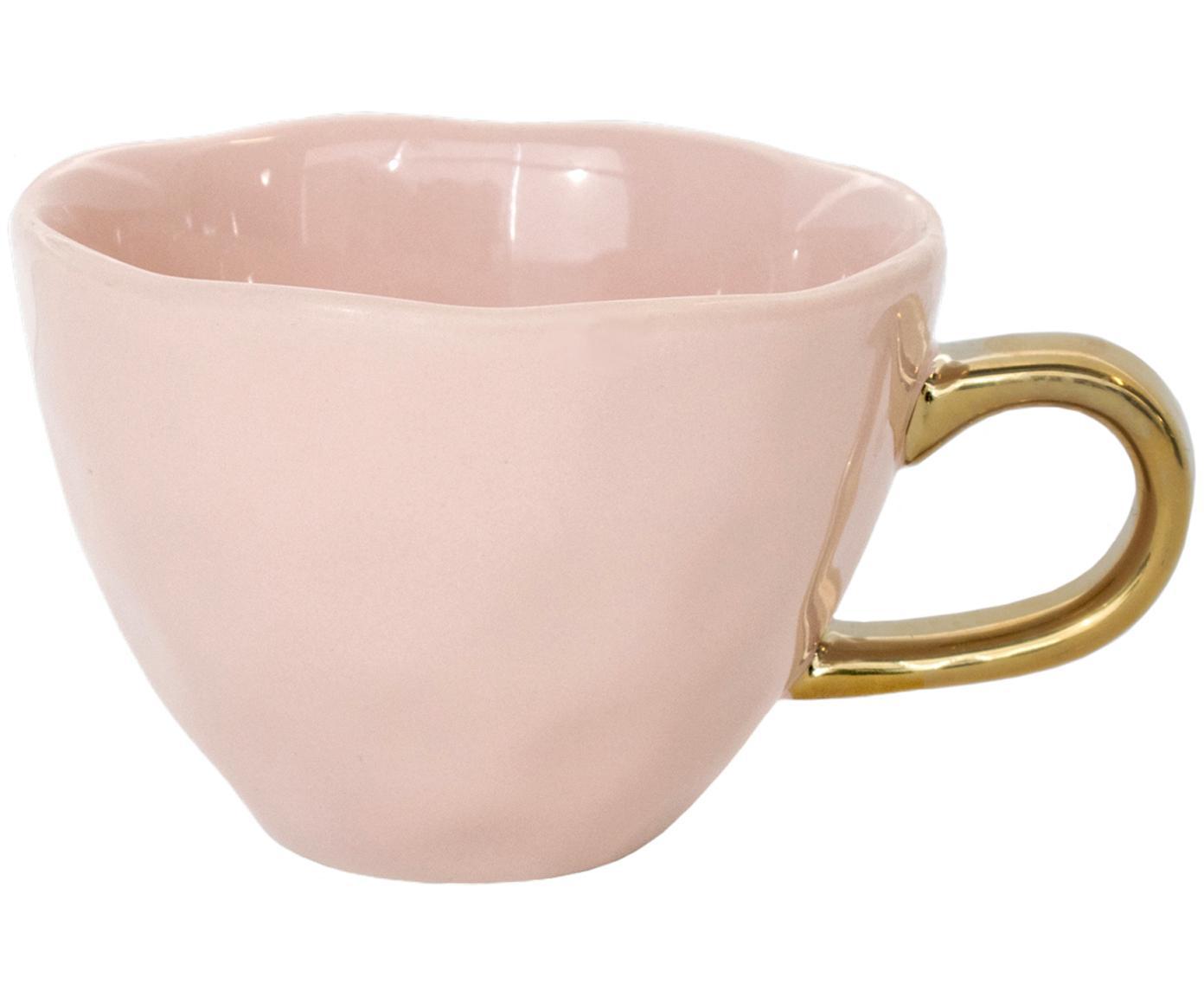 Taza de café Good Morning, Gres, Rosa, dorado, Ø 11 x Al 8 cm