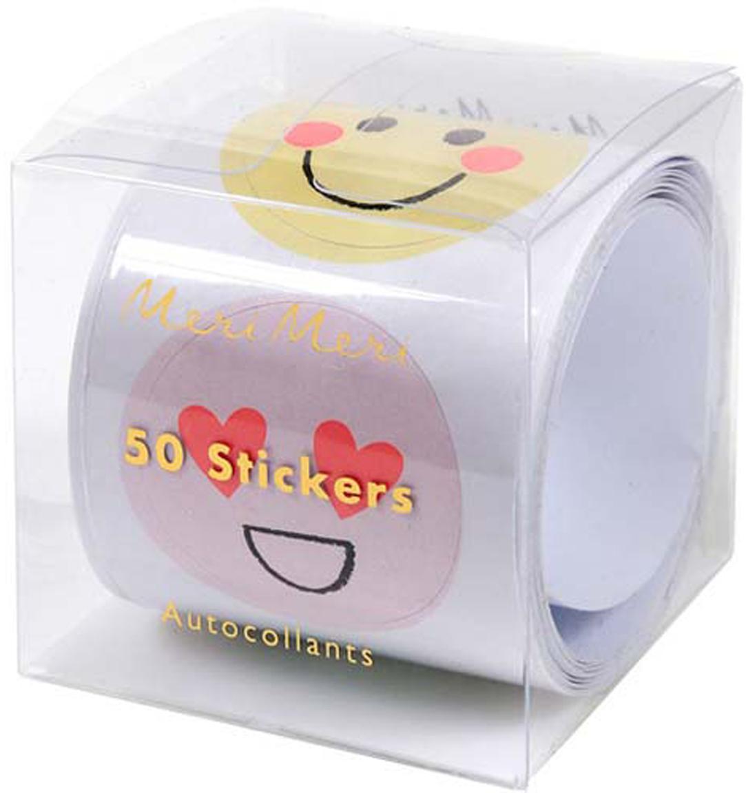 Sticker-Set Emoji, Papier, Mehrfarbig, 7 x 7 cm
