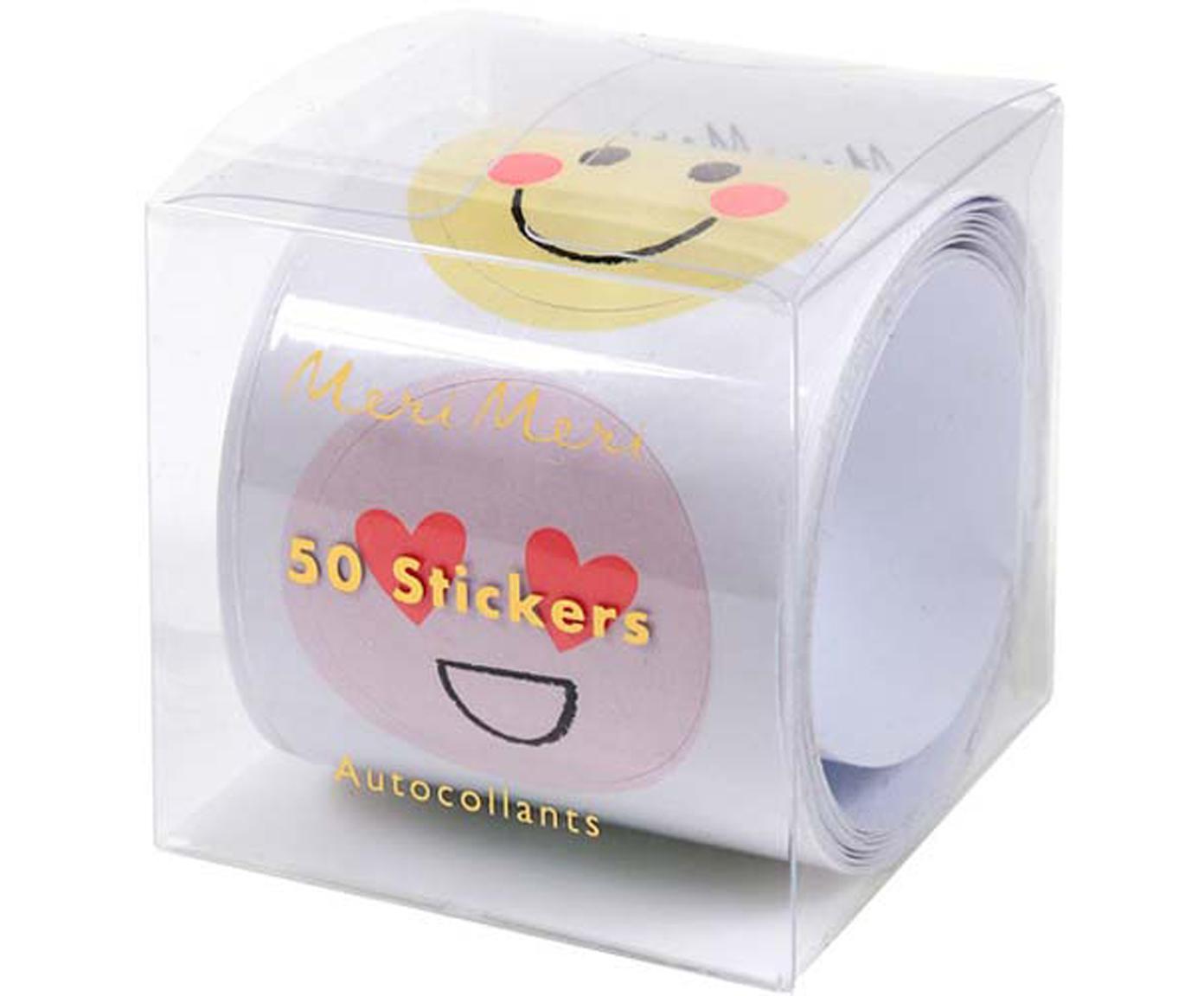 Set de pegatinas Emoji, Papel, Multicolor, An 7 x Al 7 cm