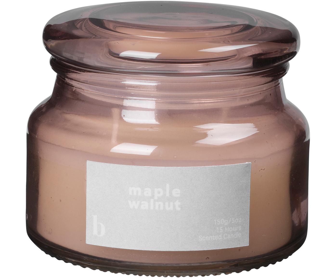 Duftkerze Maple Walnut, Behälter: Glas, Altrosa, Ø 10 x H 8 cm