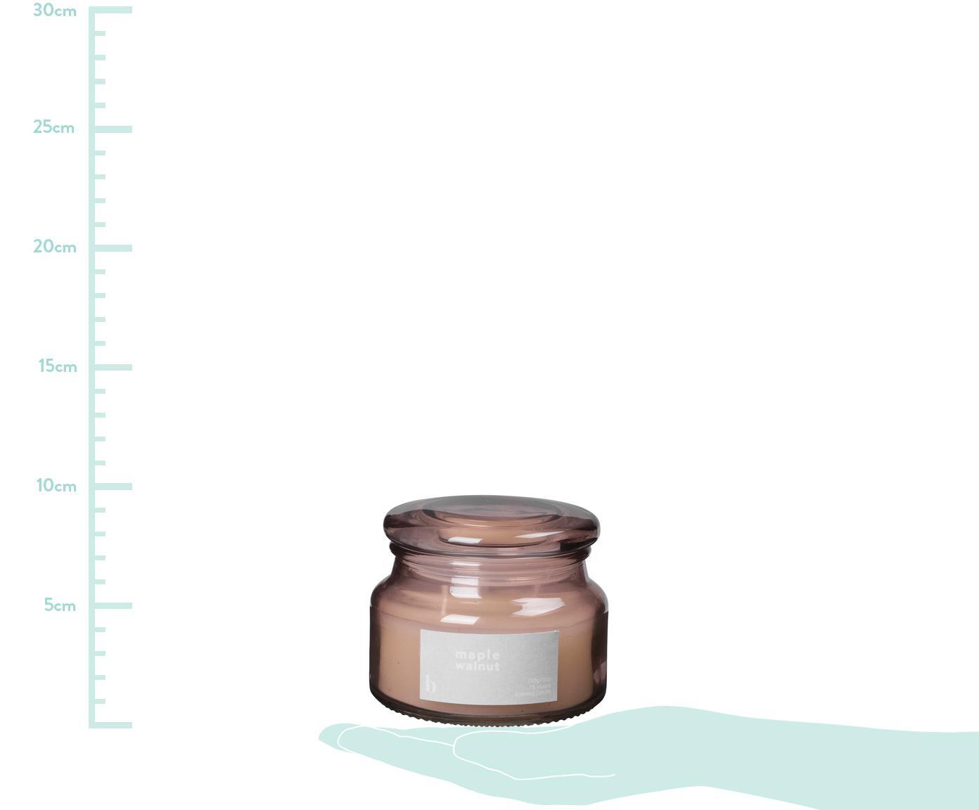 Candela profumata Maple Walnut (noce), Contenitore: vetro, Rosa cipria, Ø 10 x Alt. 8 cm