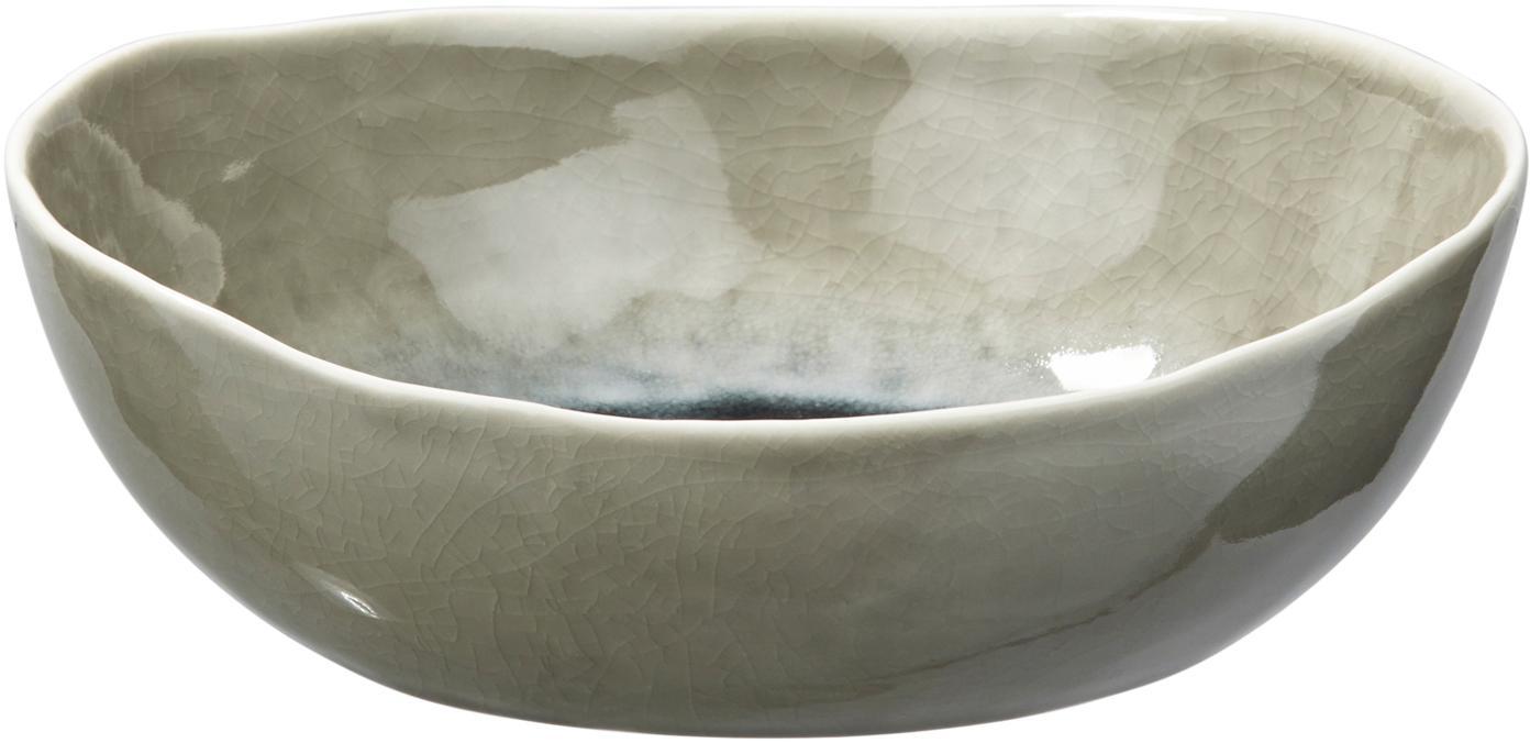 Servierschalen Porcelino Sea in Graugrün/Beige, 6 Stück, Porzellan, Graugrün, Beige, Ø 20 x H 5 cm