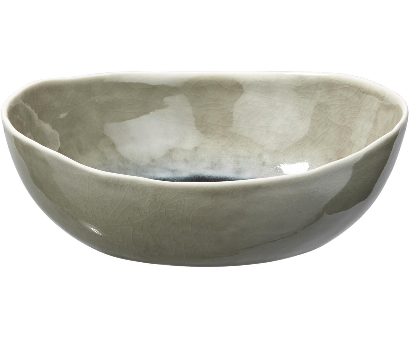 Schalen Porcelino Sea, 6 stuks, Porselein, Grijsgroen, beige, Ø 20 x H 5 cm