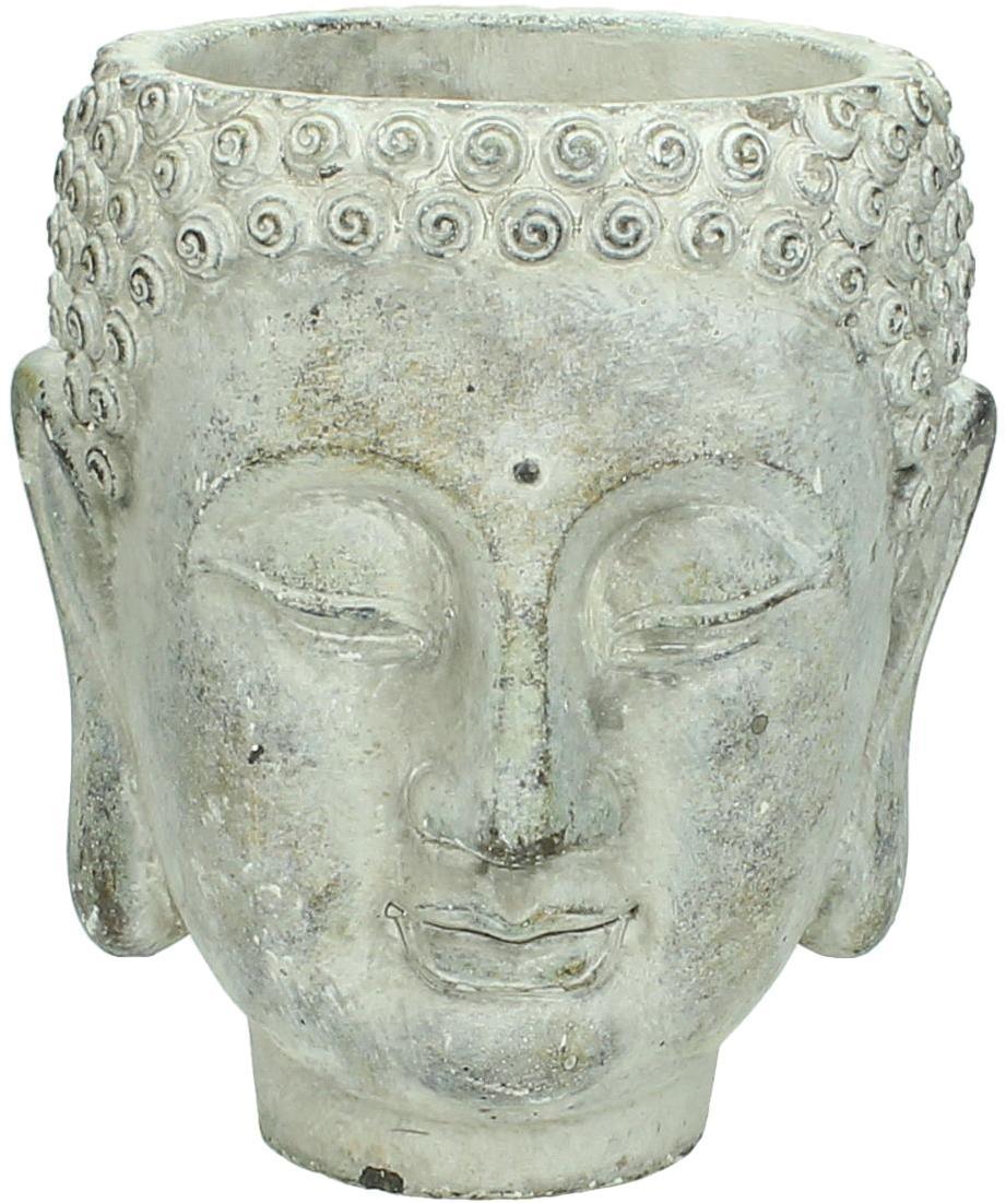 Macetero Head, Cemento, Gris, An 15 x Al 17 cm