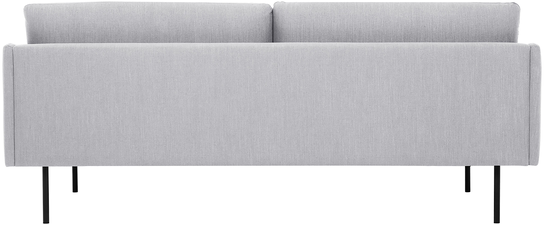 Sofa Moby (2-Sitzer), Bezug: Polyester Der hochwertige, Gestell: Massives Kiefernholz, Füße: Metall, pulverbeschichtet, Webstoff Hellgrau, B 170 x T 95 cm