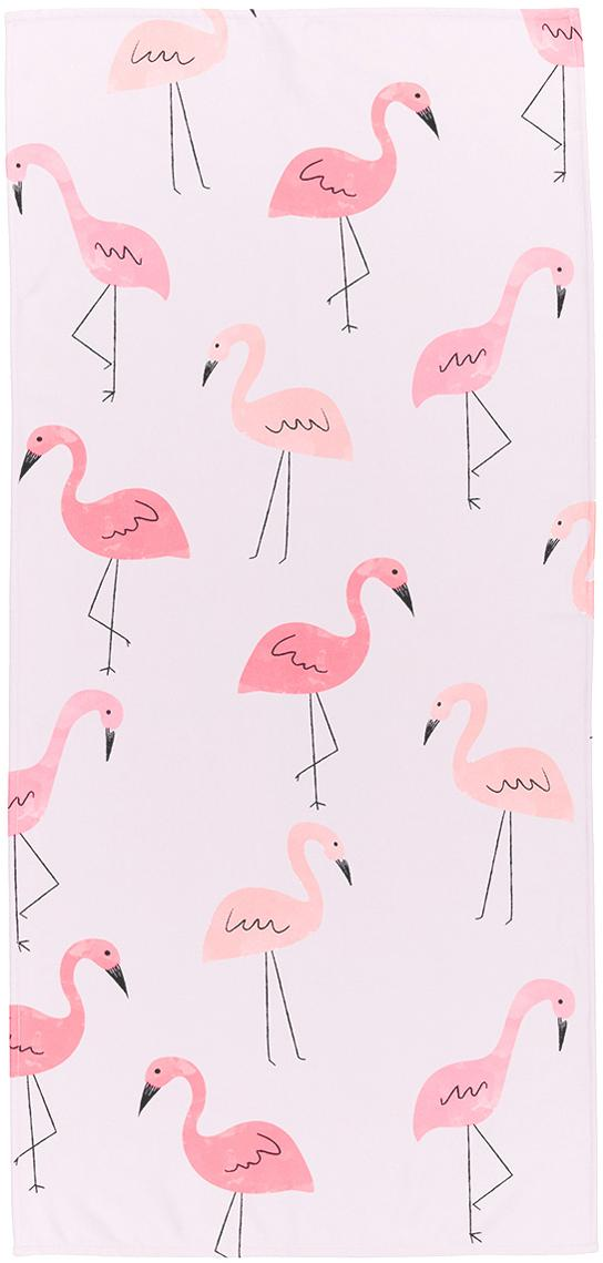 Licht strandlaken Flament, 55% polyester, 45% katoen zeer lichte kwaliteit, 340 g/m², Roze, 70 x 150 cm