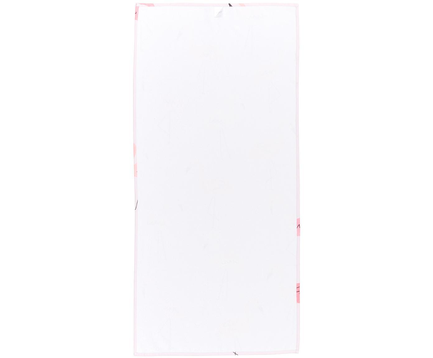 Ręcznik plażowy Mina, 55% poliester, 45% bawełna Bardzo niska gramatura, 340 g/m², Blady różowy, S 70 x D 150 cm