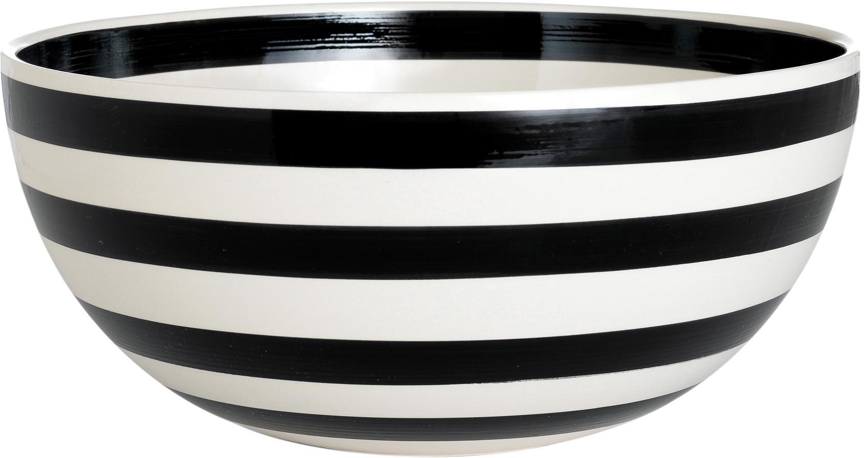 Ensaladera Omaggio, Cerámica, Negro, blanco, Ø 30 x Al 14 cm