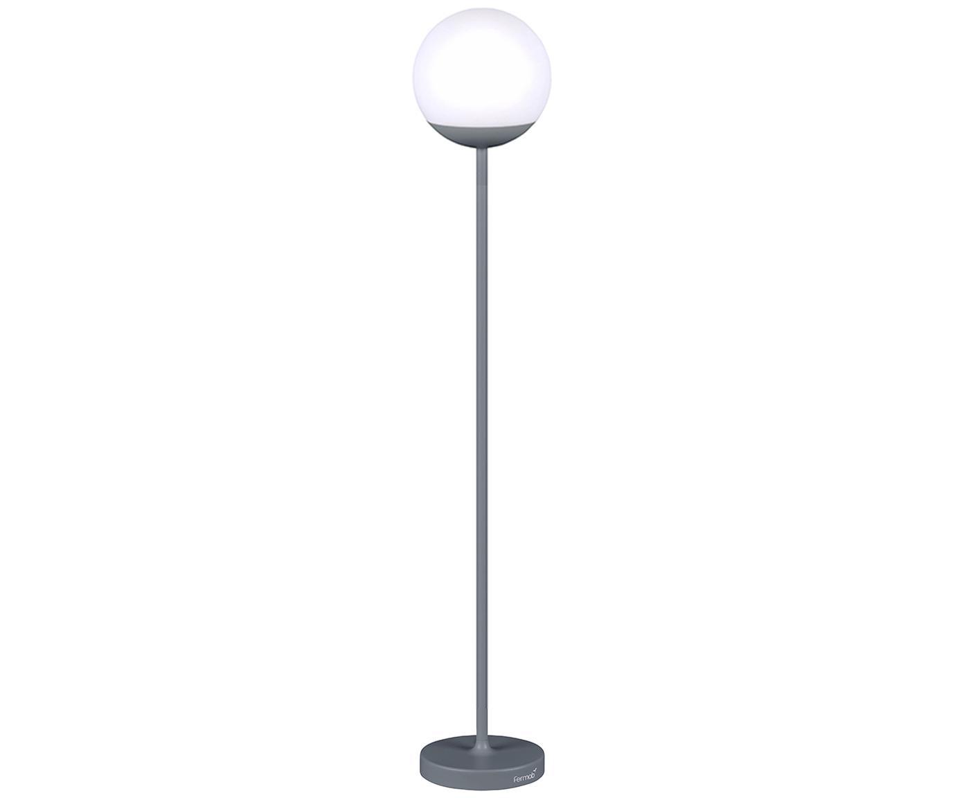 Mobile LED Außenleuchte Mooon, Lampenschirm: Kunststoff, Gewittergrau, Ø 25 x H 134 cm