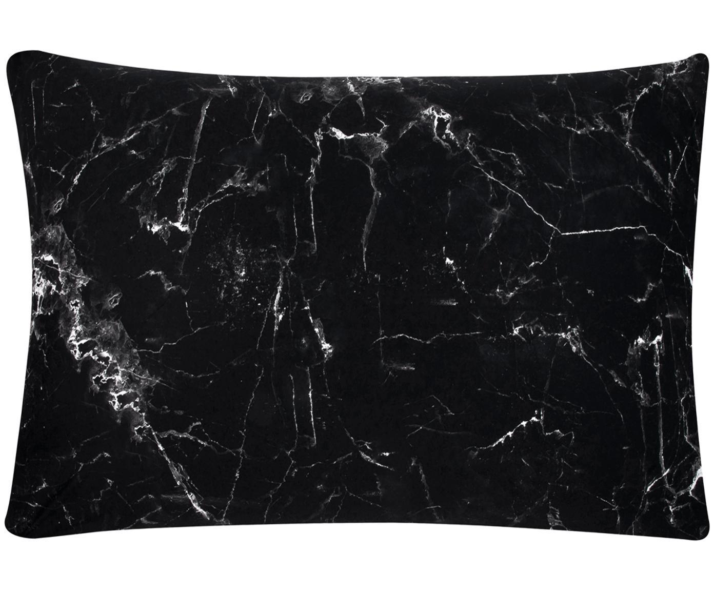 Funda de almohada Malin, Negro, blanco, An 50 x L 70 cm
