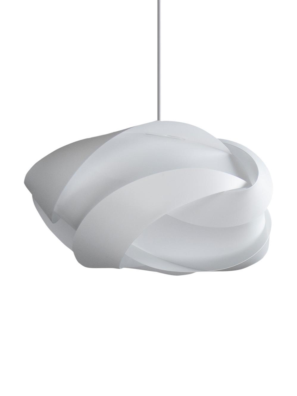 Pendelleuchte Ribbon, Bausatz, Lampenschirm: Polypropylen, Polycarbona, Baldachin: Kunststoff, Weiß, Ø 60 x H 28 cm