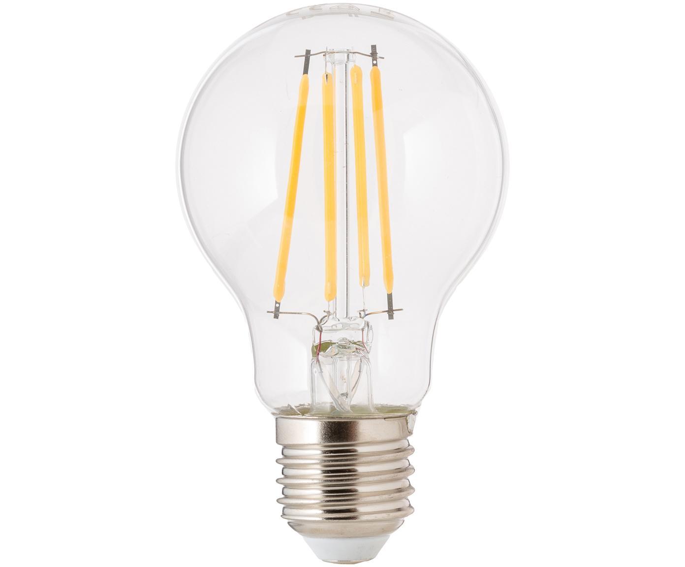 Bombilla regulable LED Cherub (E27/8Watt), Ampolla: vidrio, Casquillo: aluminio, Transparente, Ø 8 x Al 10 cm