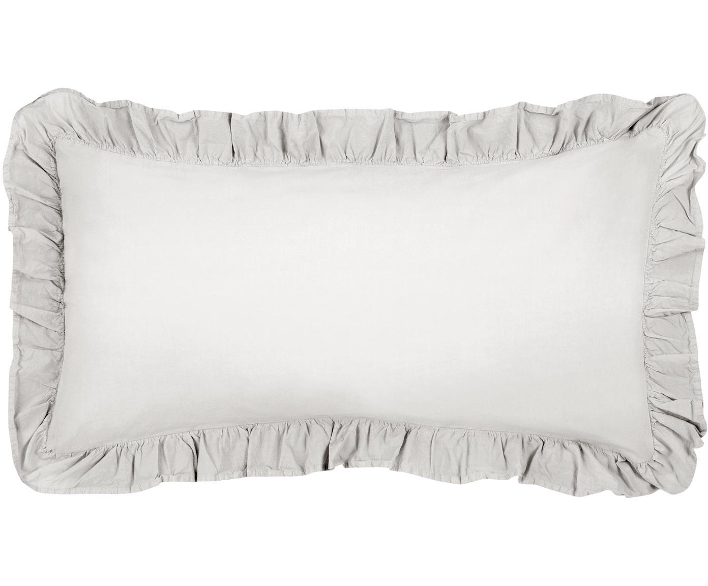 Poszewka na poduszkę z bawełny Florence, 2 szt., Jasny szary, S 40 x D 80 cm