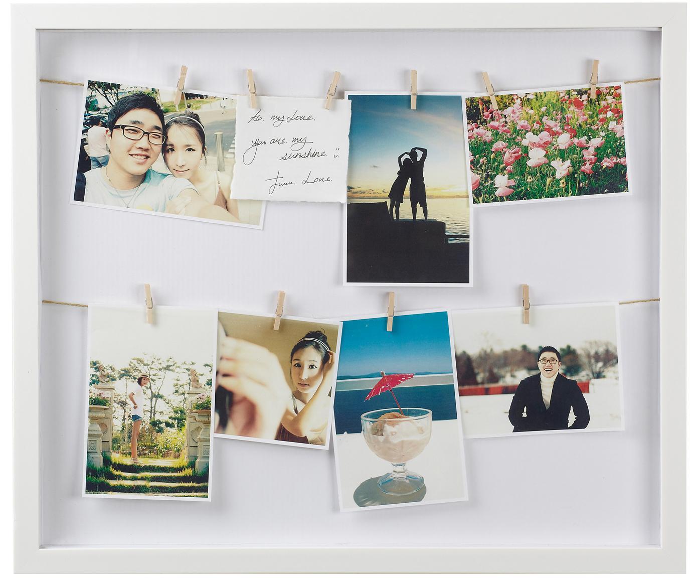 Fotolijstje Clothesline, Wit, 52 x 45 cm