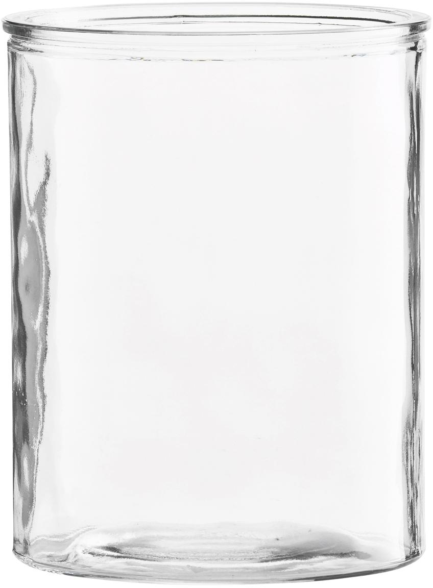 Kleine Glas-Vase Cylinder, Glas, Transparent, Ø 13 x H 15 cm