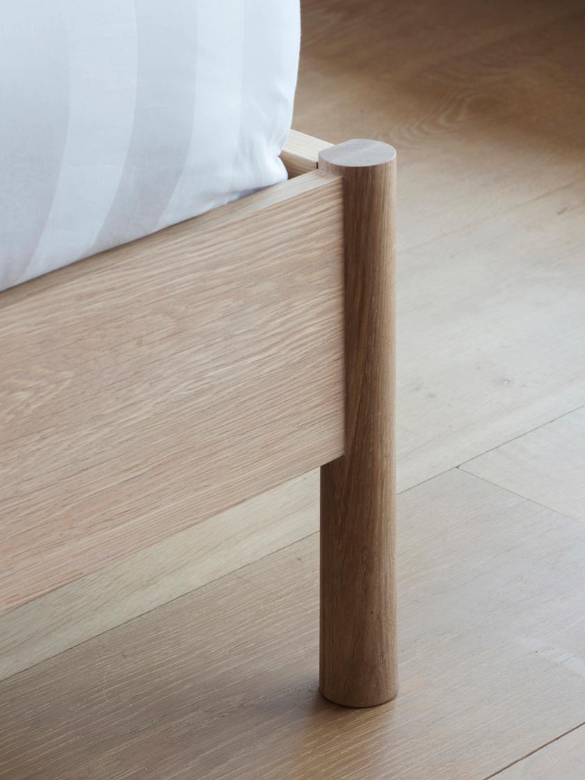 Letto matrimoniale in legno di quercia Wycombe, Legno di quercia, 180 x 200 cm