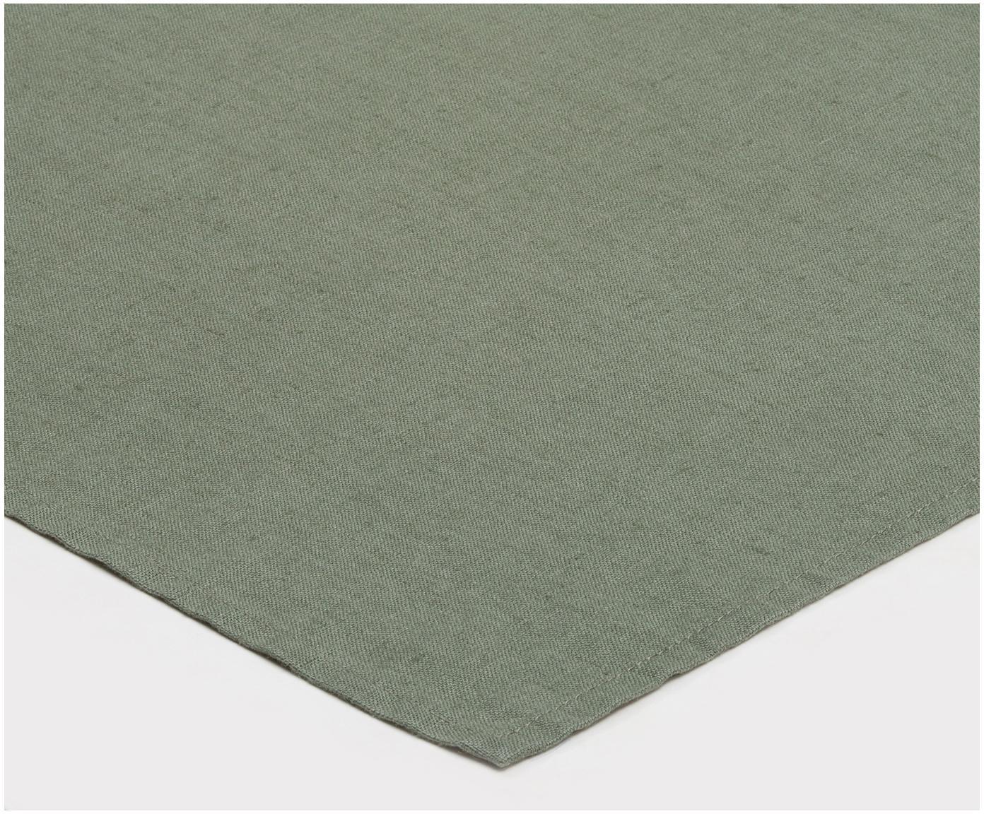 Leinen-Servietten Sunshine, 4 Stück, Leinen, Grün, 45 x 45 cm