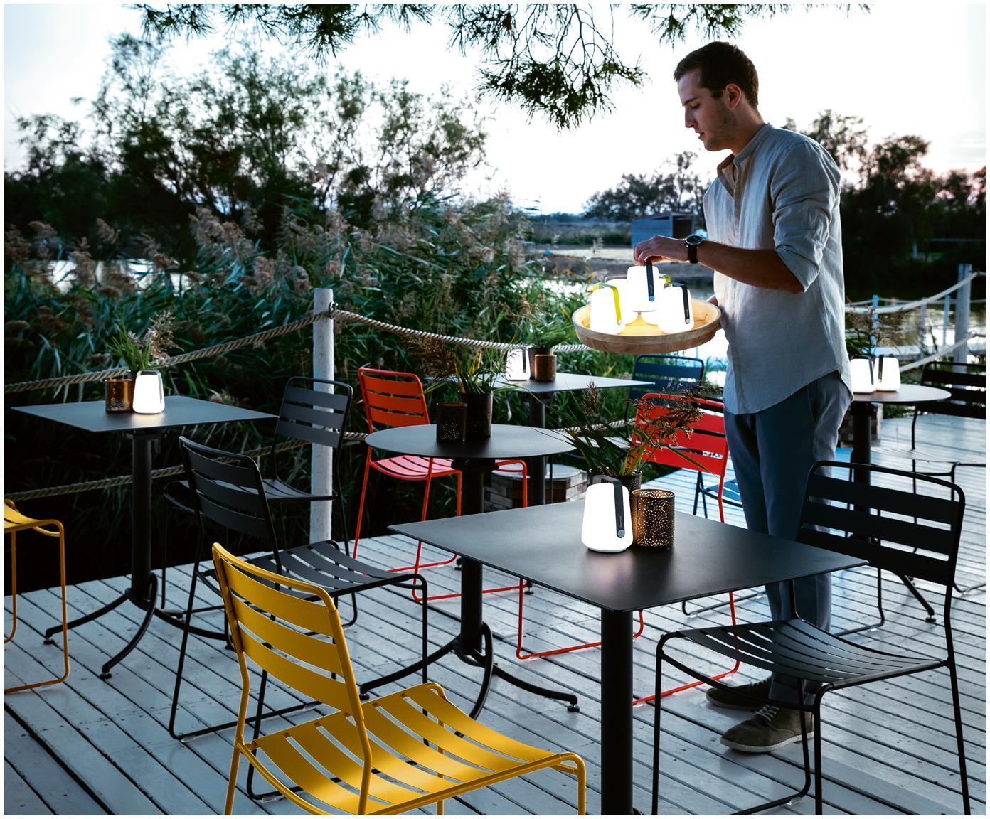 Mobiele outdoor LED lampen Balad, 3 stuks, Lampenkap: polyethyleen, Lichtgroen, Ø 10 x H 13 cm