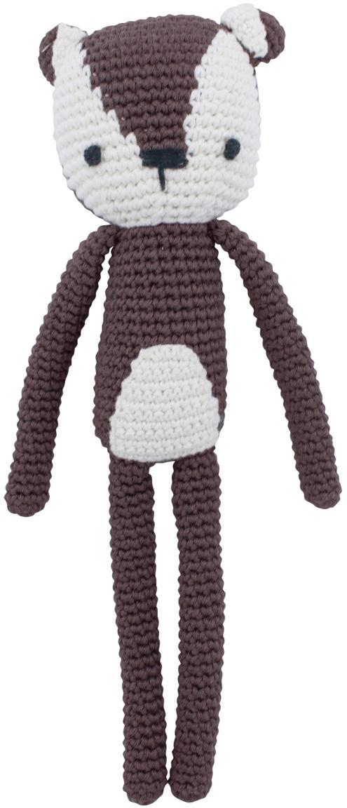 Przytulanka Milo, Tapicerka: bawełna, Brązowy, biały, S 4 x W 27 cm