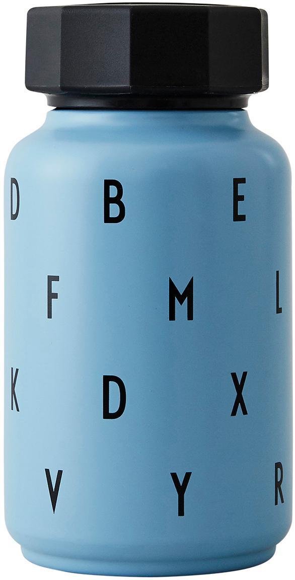 Borraccia termica con cannuccia Ilona, Blu, 330 ml