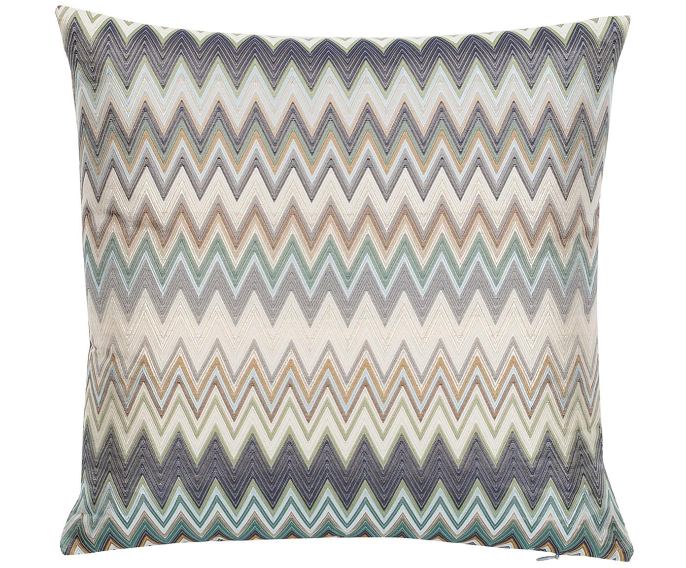 Cuscino con motivo a zigzag Masuleh, Rivestimento: 45% poliestere, 42% ottan, Multicolore, Larg. 40 x Lung. 40 cm