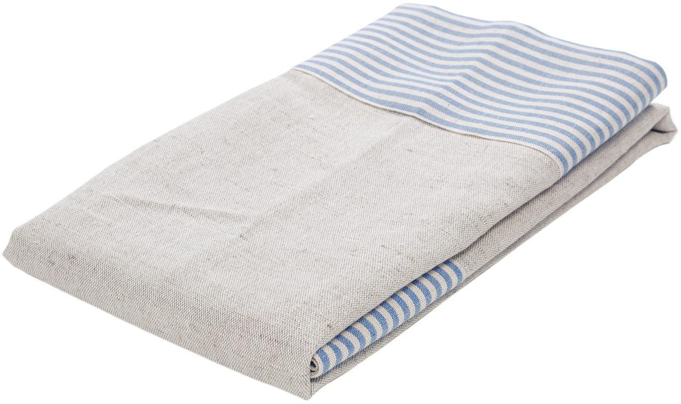 Mantel Milda, Azul, beige, De 2 a 4 comensales (An 90 x L 90 cm)
