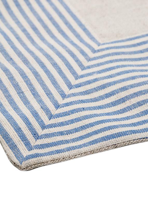 Tischdecke Milda, Blau, Beige, Für 2 - 4 Personen (B 90 x L 90 cm)
