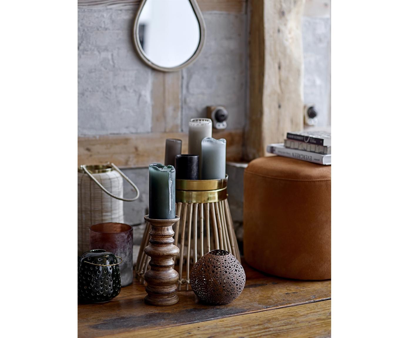 Świecznik Stili, Drewno mangowe, Brązowy, Ø 10 x W 25 cm