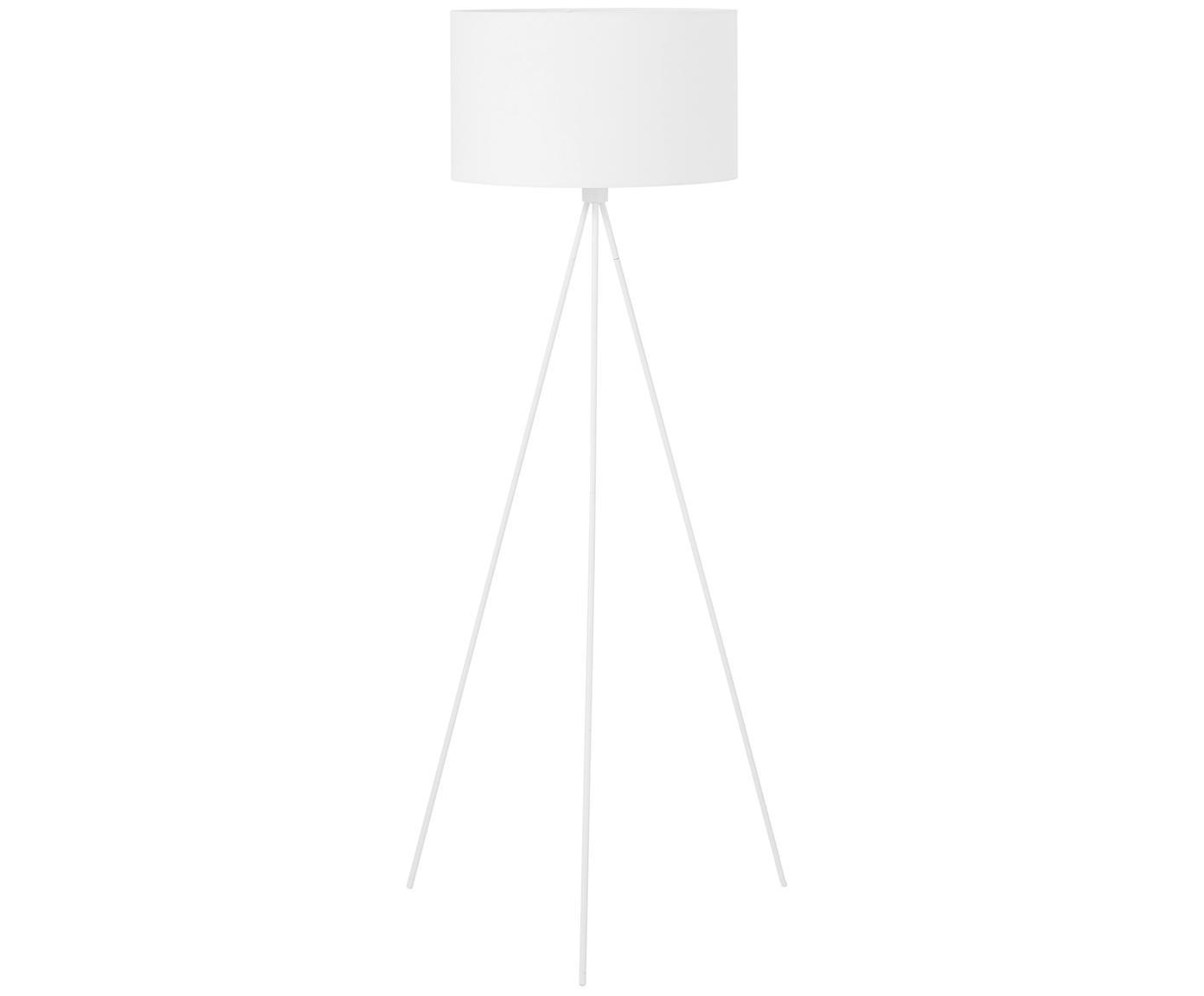 Stehlampe Cella, Lampenfuß: Metall, pulverbeschichtet, Lampenschirm: Baumwollgemisch, Weiß, ∅ 48 x H 158 cm
