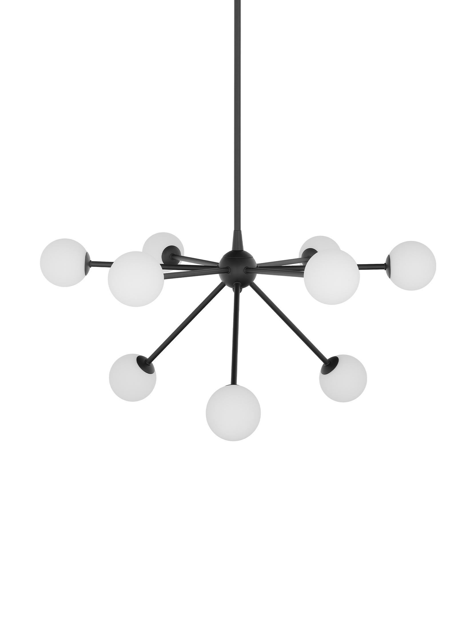 Lampa wisząca Space, Czarny, S 81 x G 71 cm