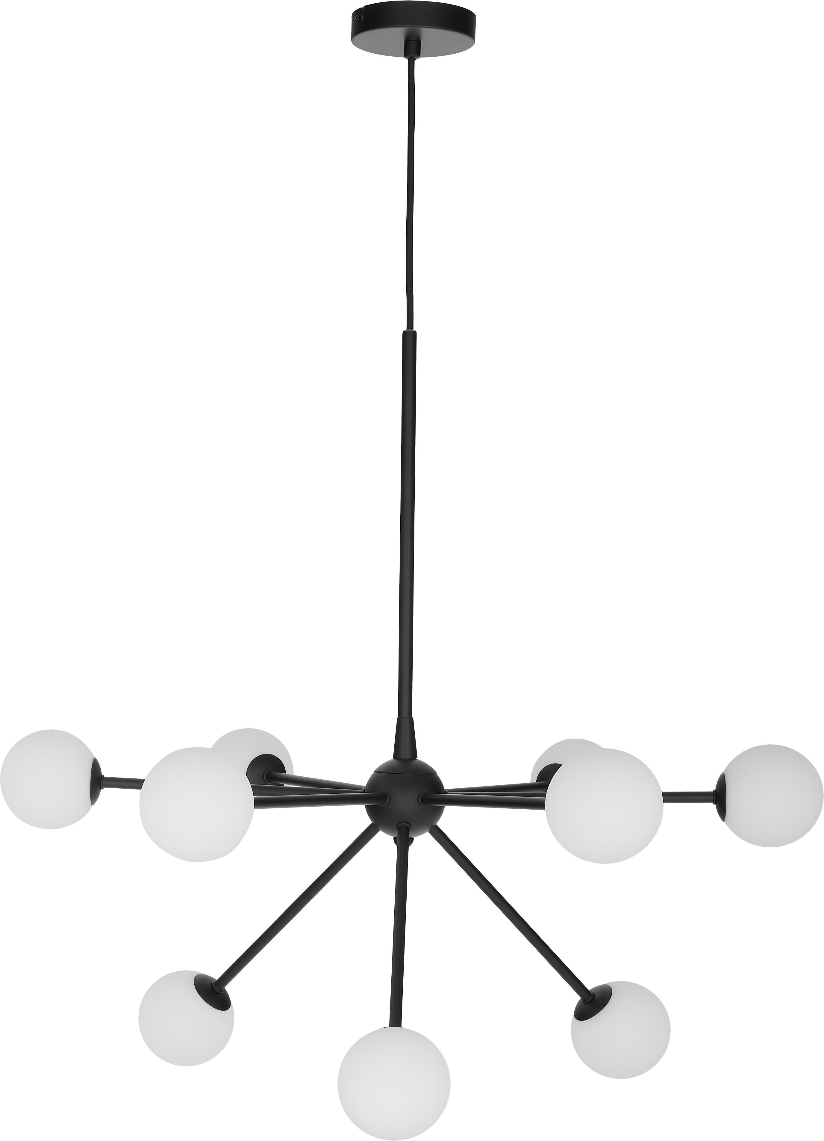 Pendelleuchte Space, Schwarz, B 81 x T 71 cm