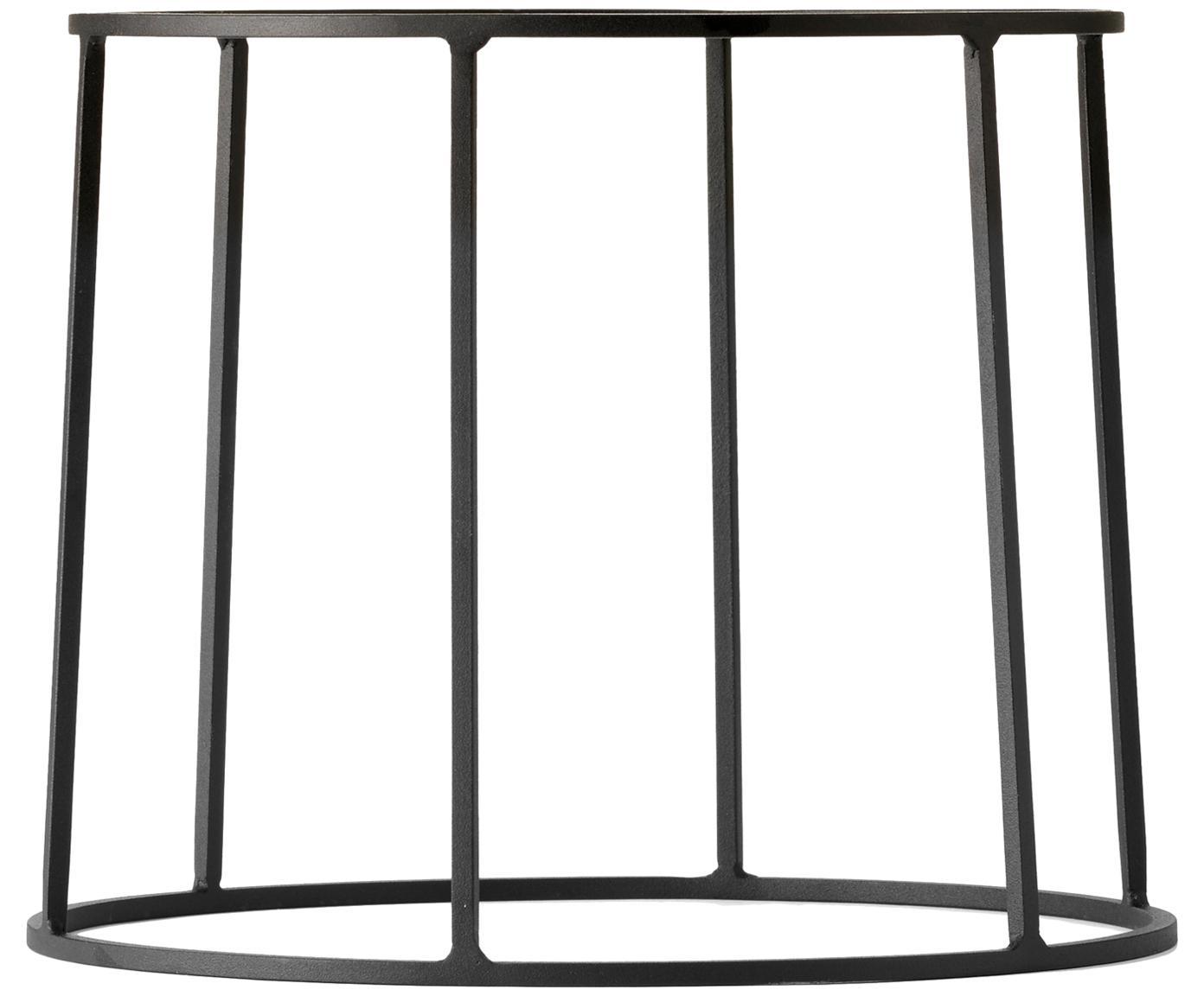 Plantenpot standaard Wire Base van staal, Gepoedercoat staal, Zwart, Ø 23 cm