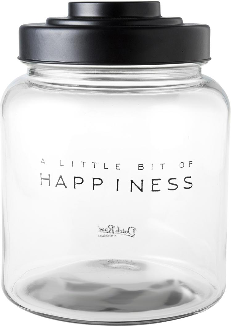 Bote decorativo Happiness, Transparente, Ø 16 x Al 21 cm