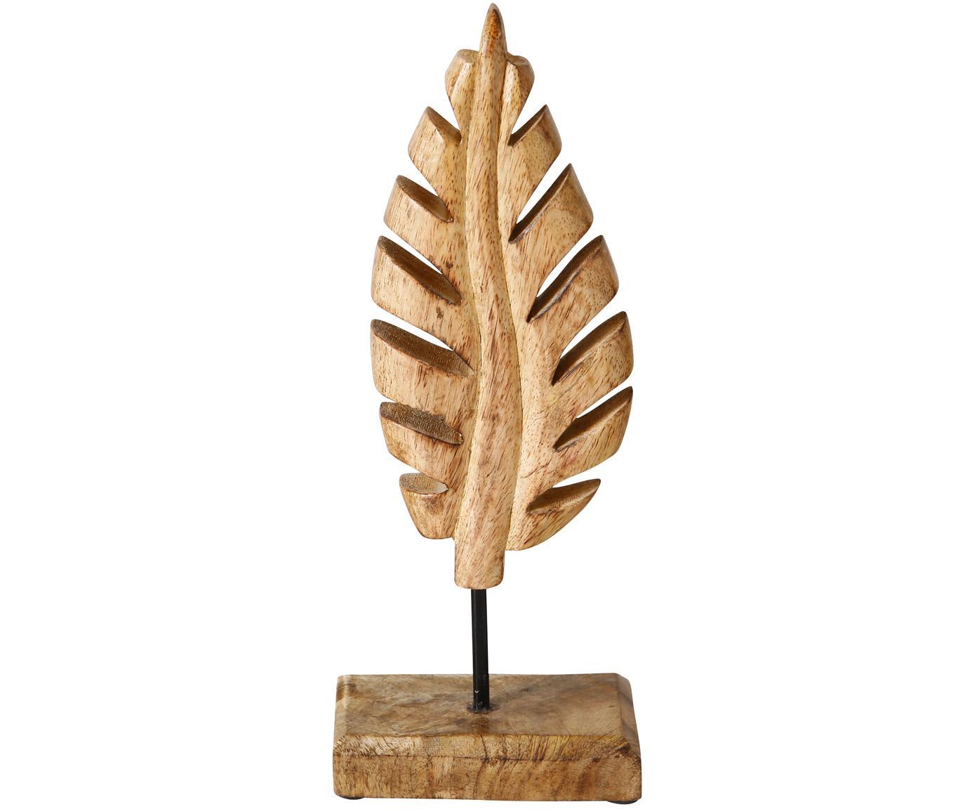 Komplet dekoracji Leaf, 3 elem., Drewno naturalne, Brązowy, S 12 x W 30 cm