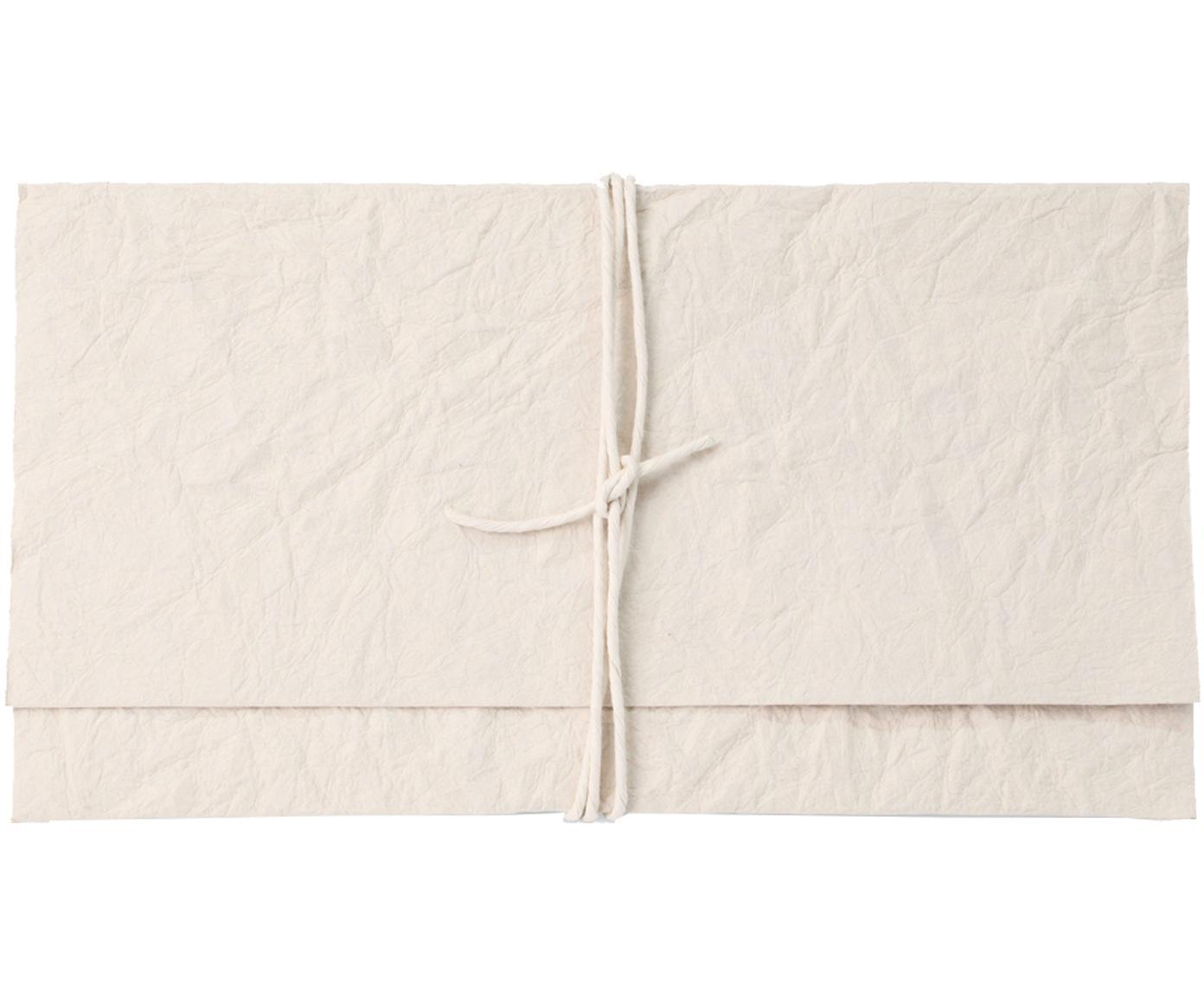 Umschlag Soft, Papier, Cremefarben, 27 x 15 cm
