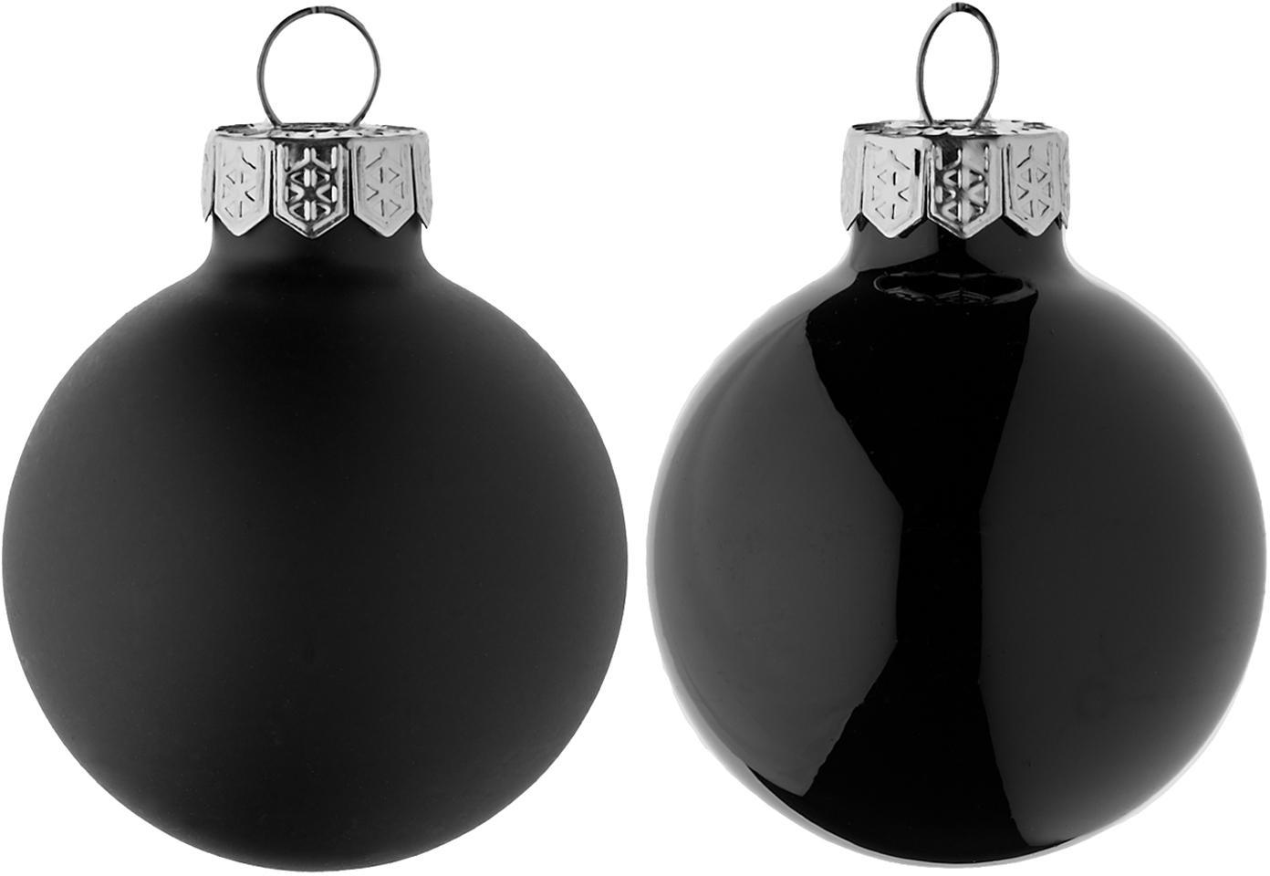 Set de bolas mini de Navidad Evergreen, Ø4cm, 16pzas., Negro, Ø 4 cm
