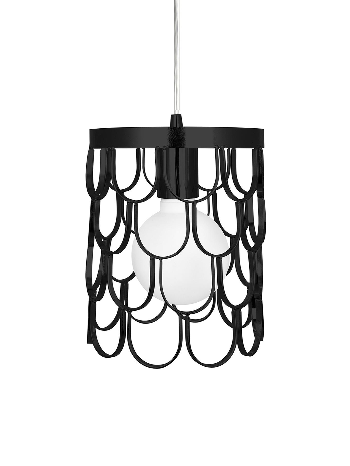 Lampada a sospensione di design Gatsby, Nero, Ø 18 x Alt. 22 cm