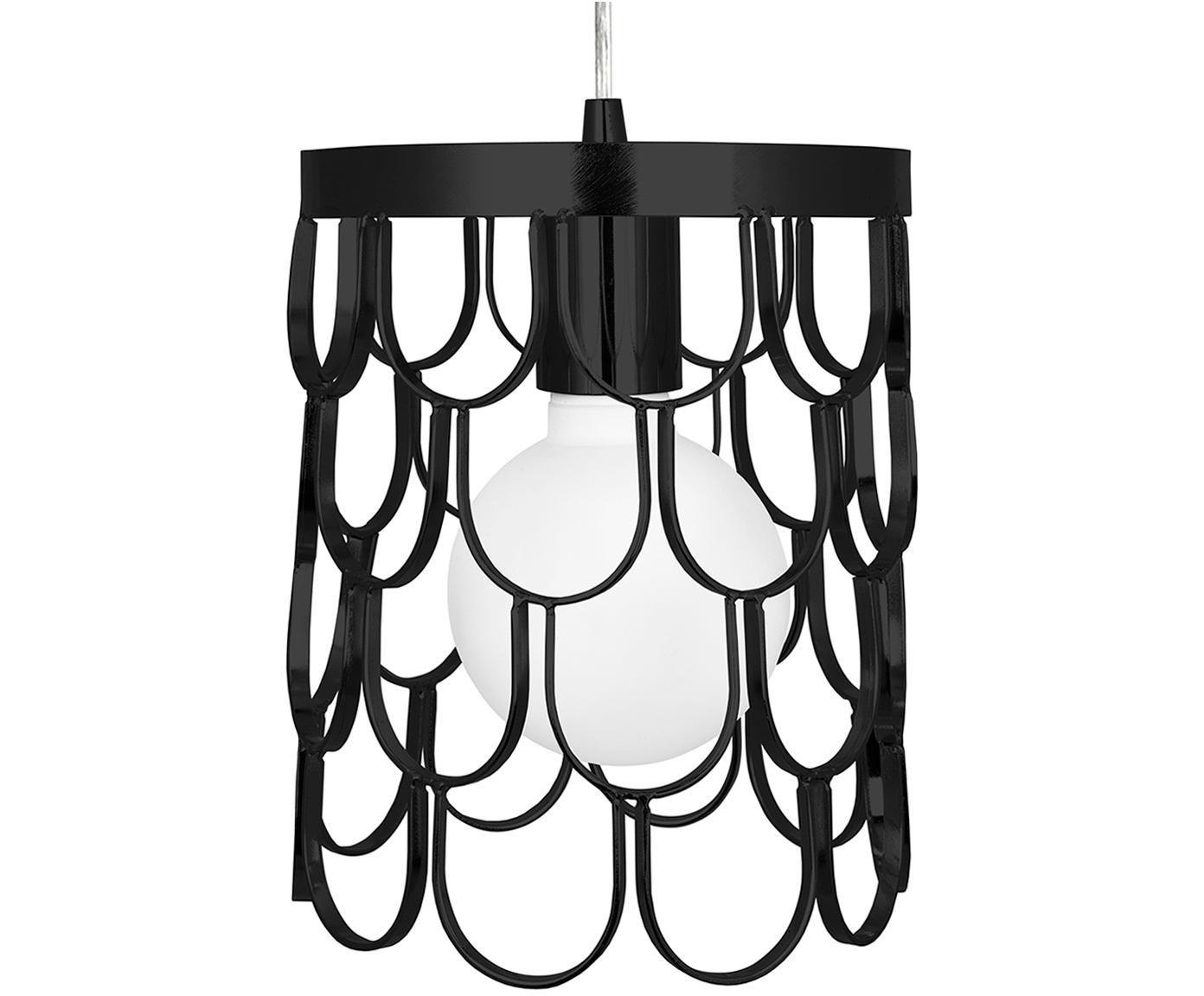 Kleine Design-Pendelleuchte Gatsby, Schwarz, Ø 18 x H 22 cm