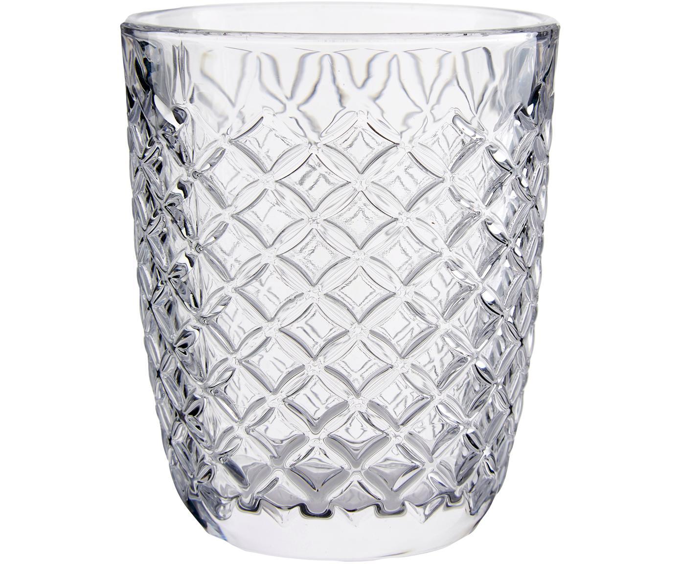 Tumblers Arlequin, 6 stuks, Glas, Transparant, 250 ml