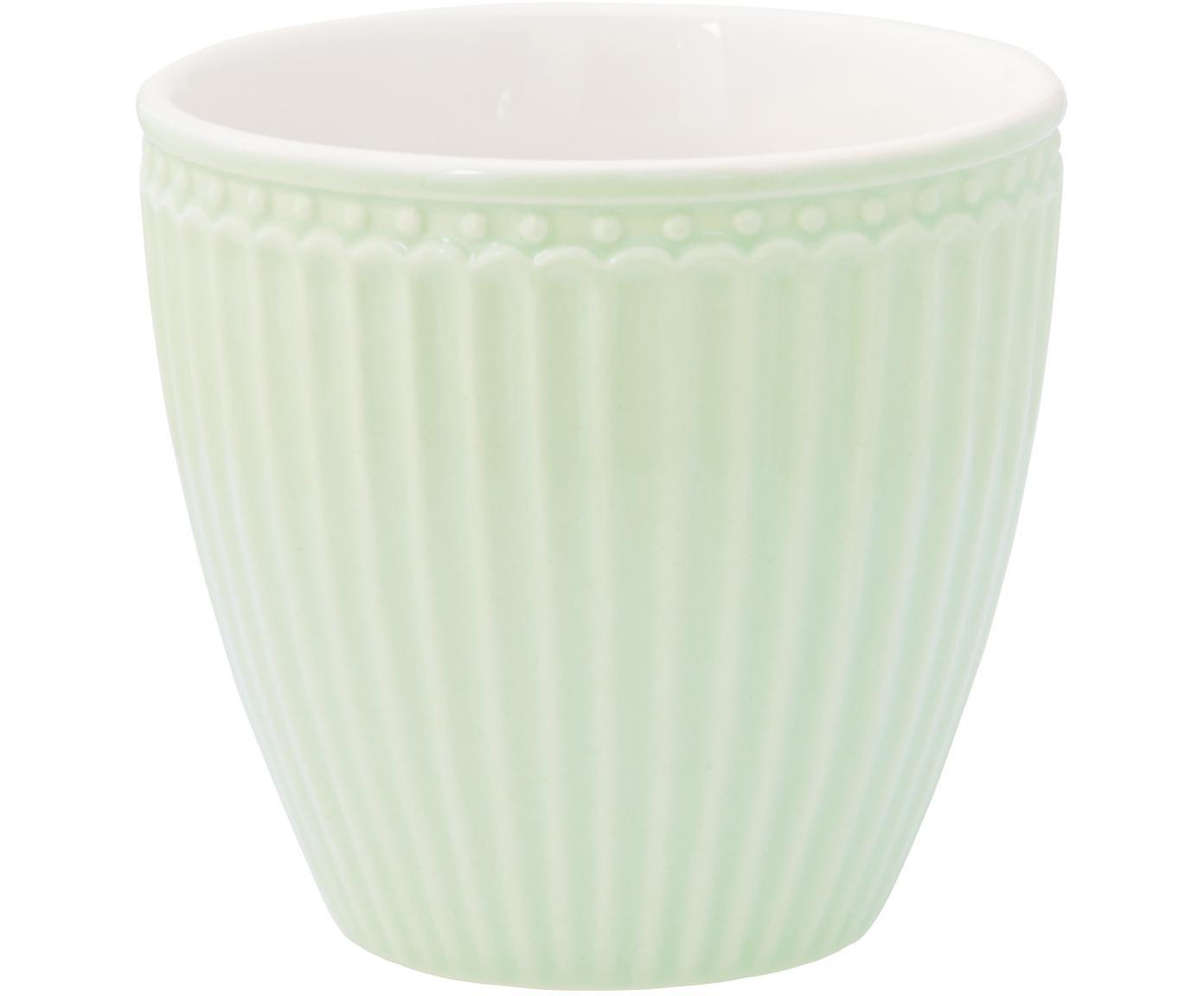 Tazas Alice, 2uds., Porcelana, Verde menta, Ø 10 x Al 9 cm