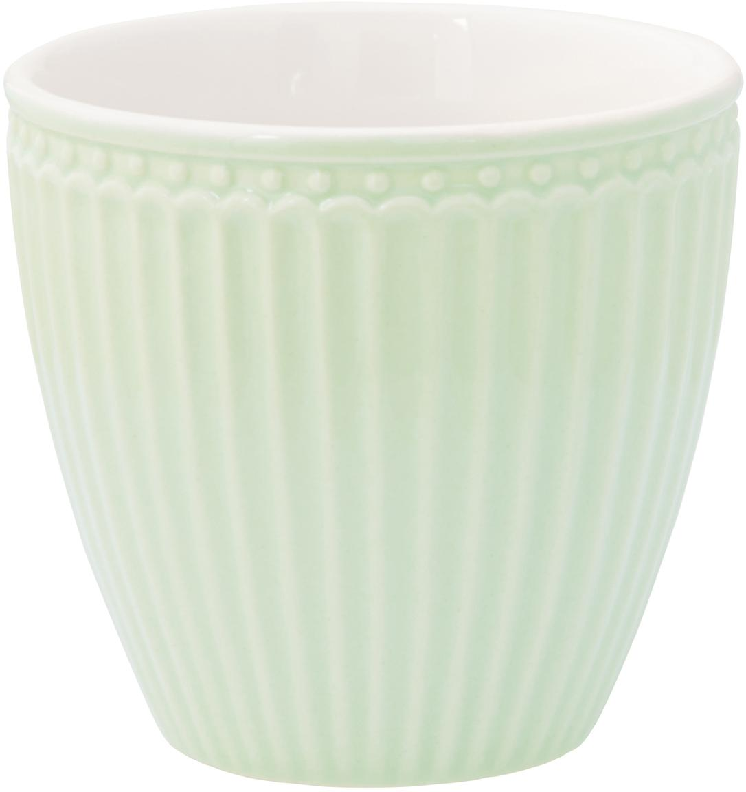 Kubek Alice, 2 szt., Porcelana, Miętowozielony, Ø 10 x W 9 cm