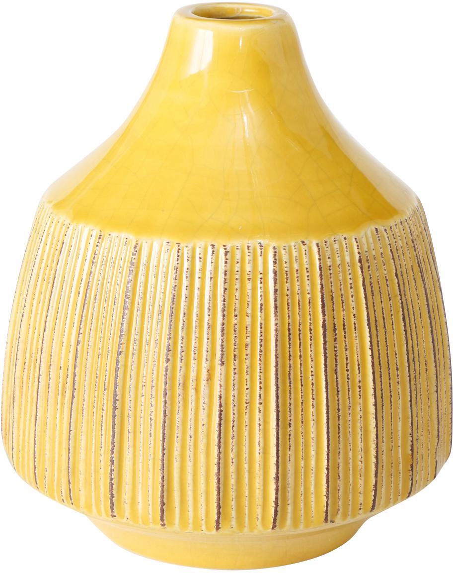 Vaso in terracotta Menos, Terracotta, Giallo, Ø 12 x Alt. 14 cm